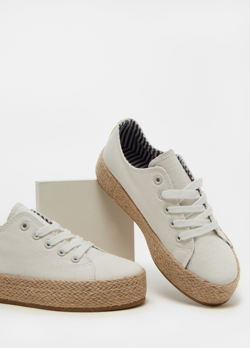 Canvas sneakers with cord sole image number null