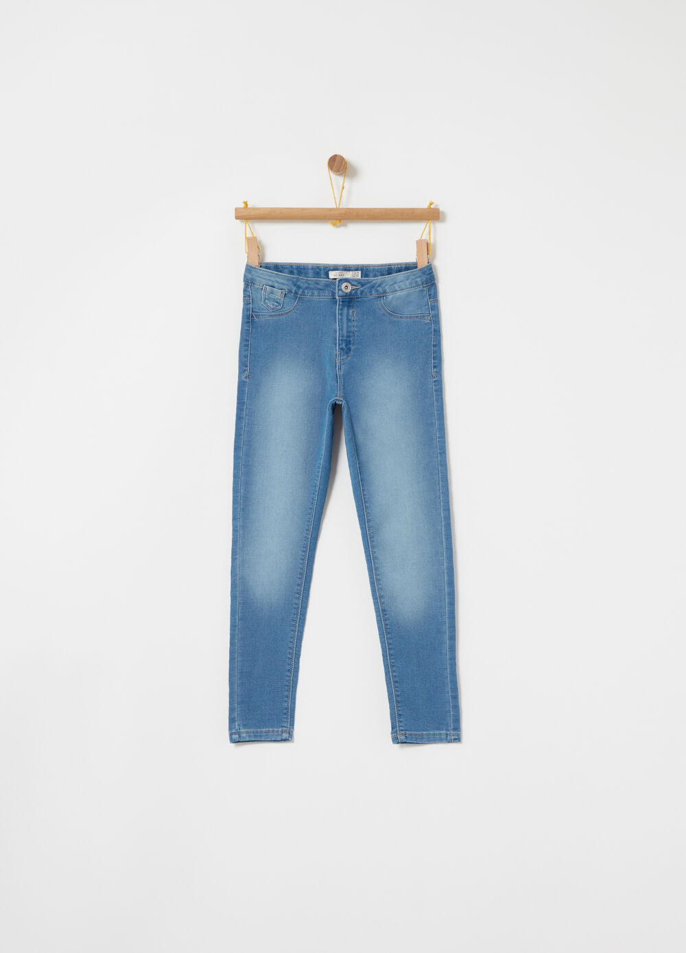 Jeans superskinny in French Terry stretch