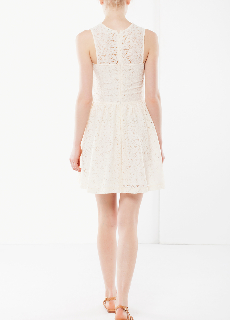 Sleeveless dress in lace image number null