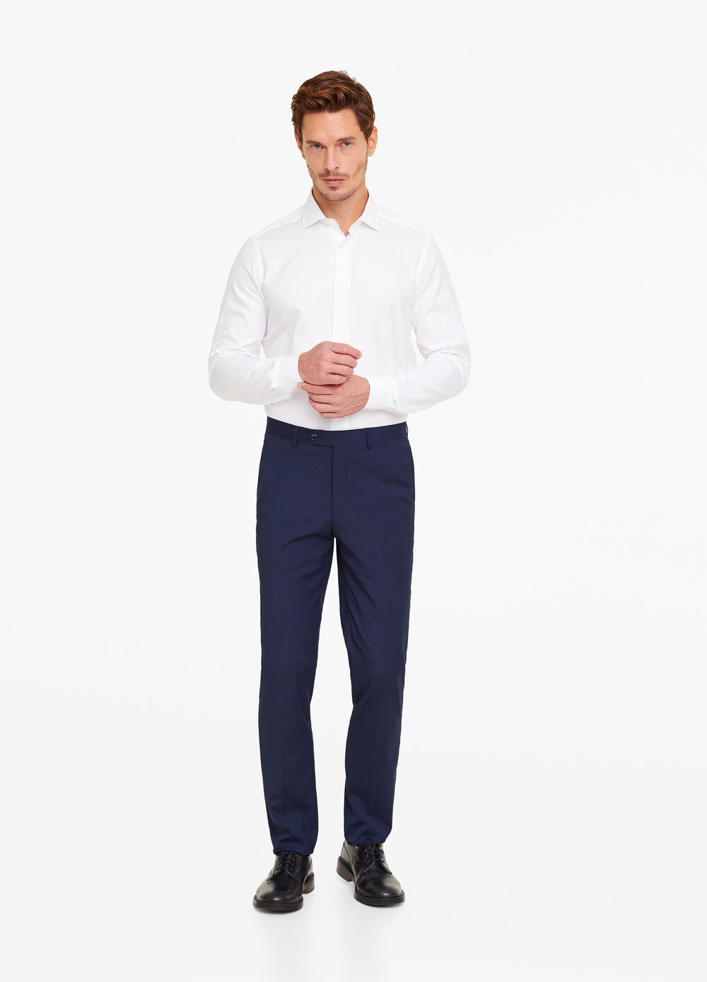 Pantaloni regular fit senza pinces