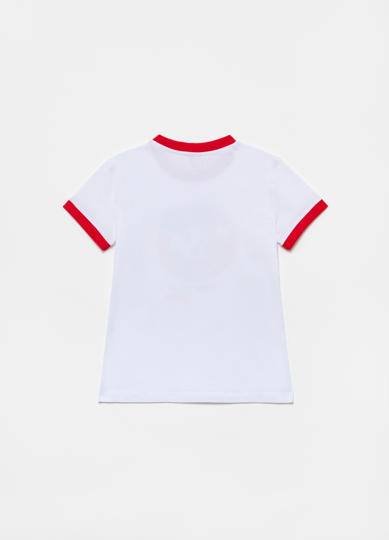 T-shirt with Disney Mickey Mouse print and round neck image number null