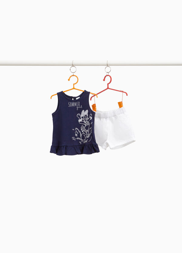 Daisy Duck top and shorts outfit with flounce
