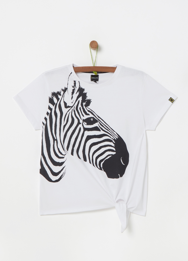National Geographic T-shirt with zebra print image number null