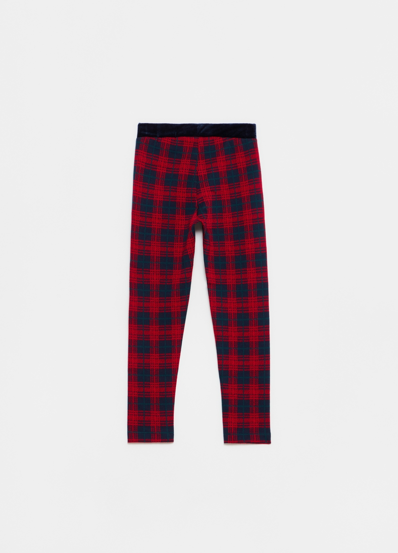 Leggings stretch fantasia tartan image number null