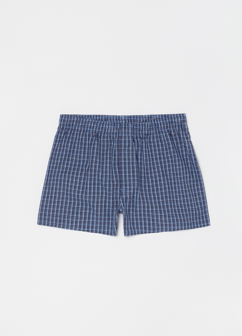 Three-pack patterned boxer shorts in 100% cotton image number null