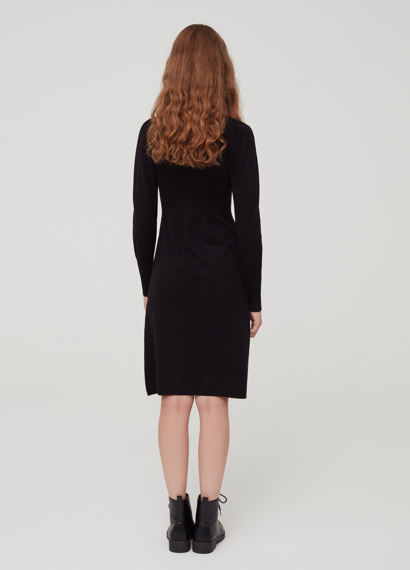 Midi dress with high neck image number null