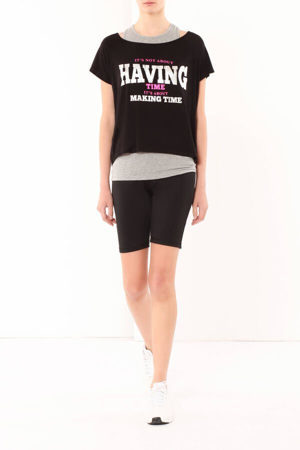 T-shirt in viscosa stretch | OVS