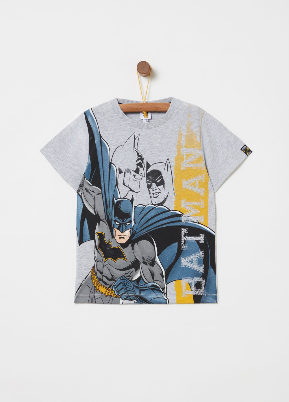 Mélange T-shirt with Batman print on the front