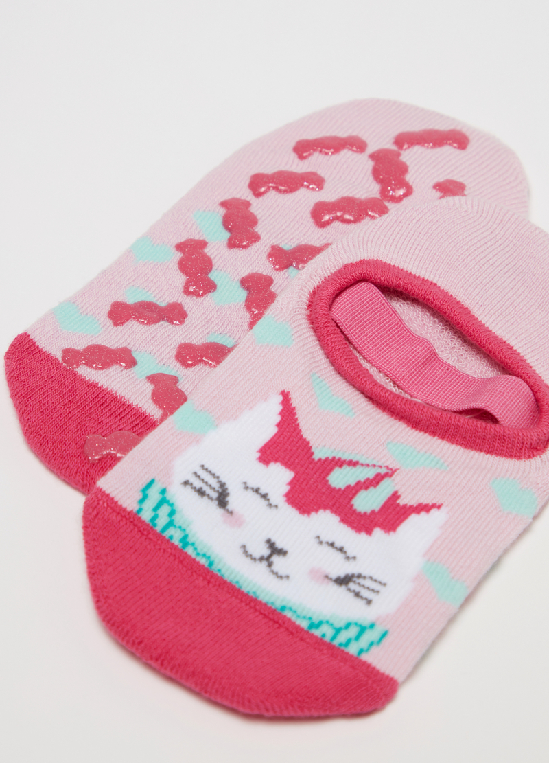 Non-slip shoes with kitten embroidery image number null