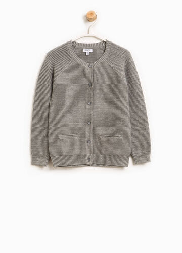 Cardigan in cotone con lurex