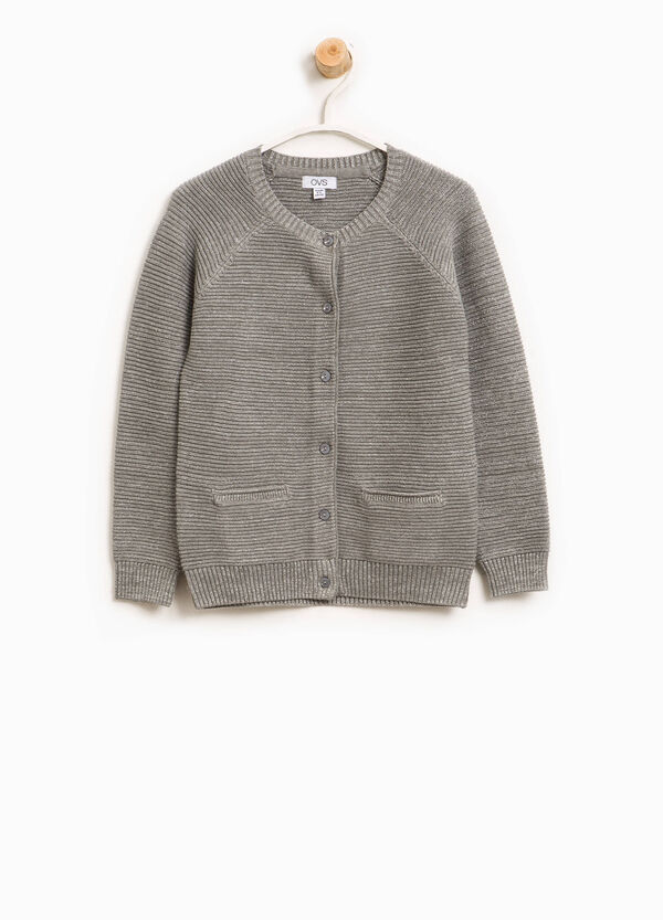 Cardigan in cotone con lurex | OVS