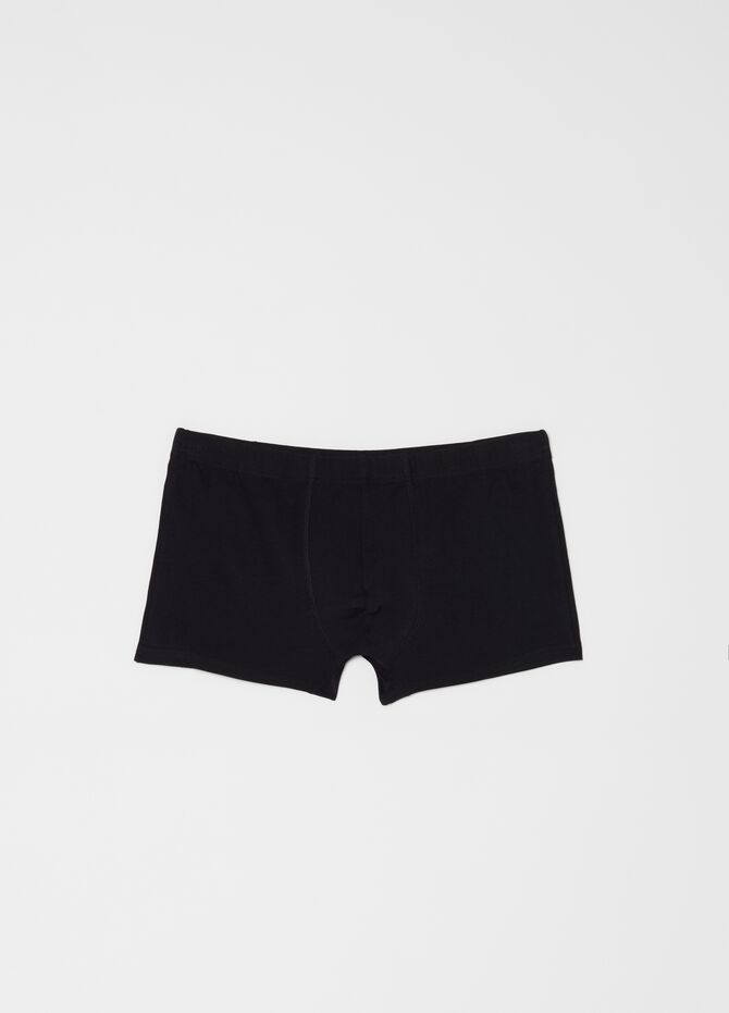 Stretch cotton boxer shorts with elasticated waistband