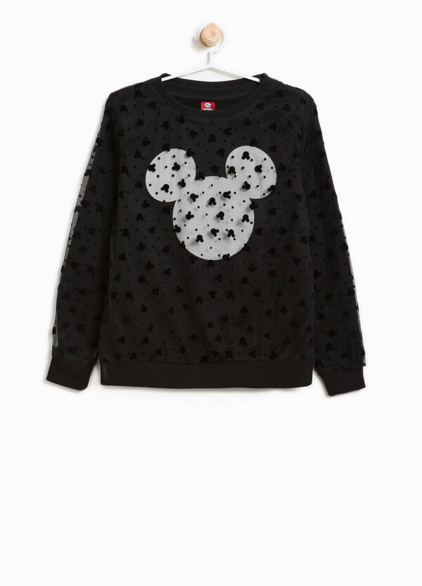 Stretch cotton sweatshirt with Minnie Mouse print | OVS