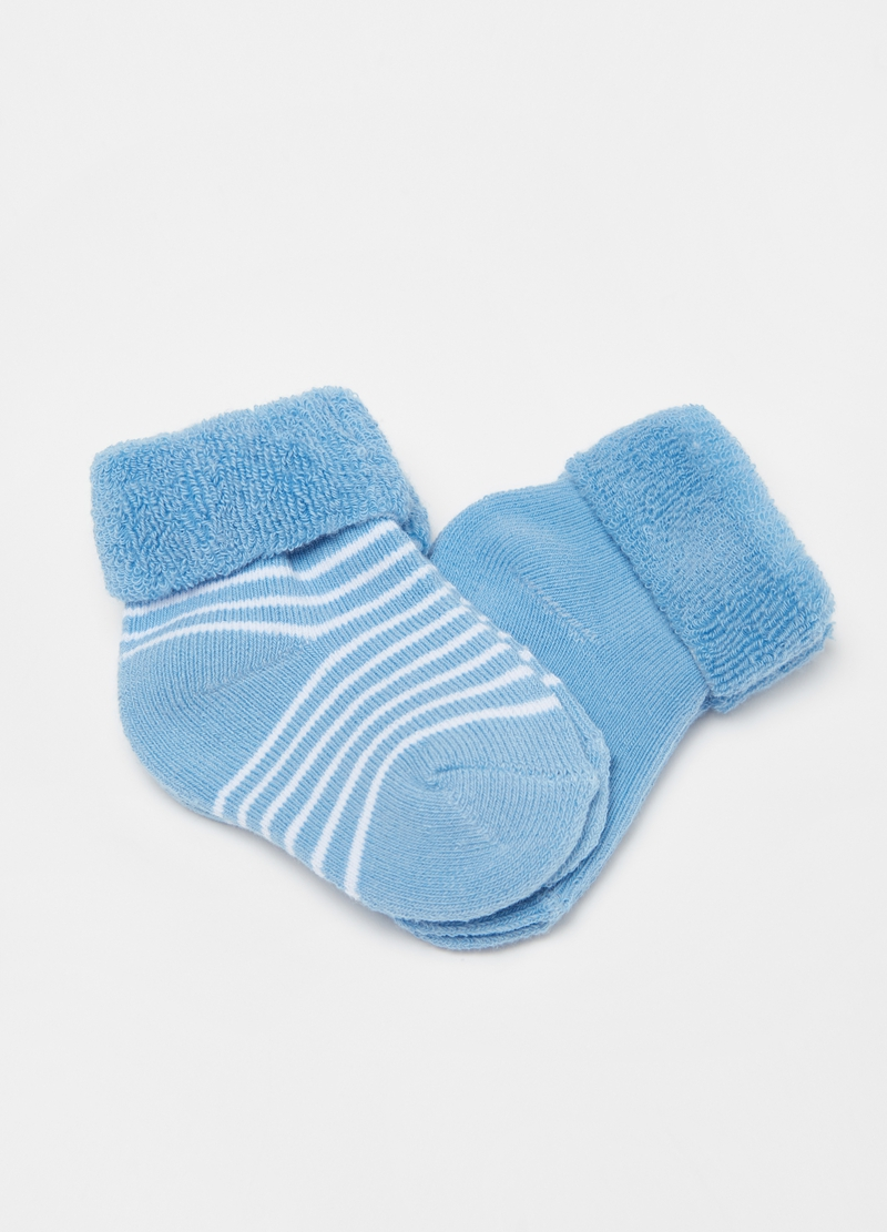 Two-pair pack short socks in stretch organic cotton image number null