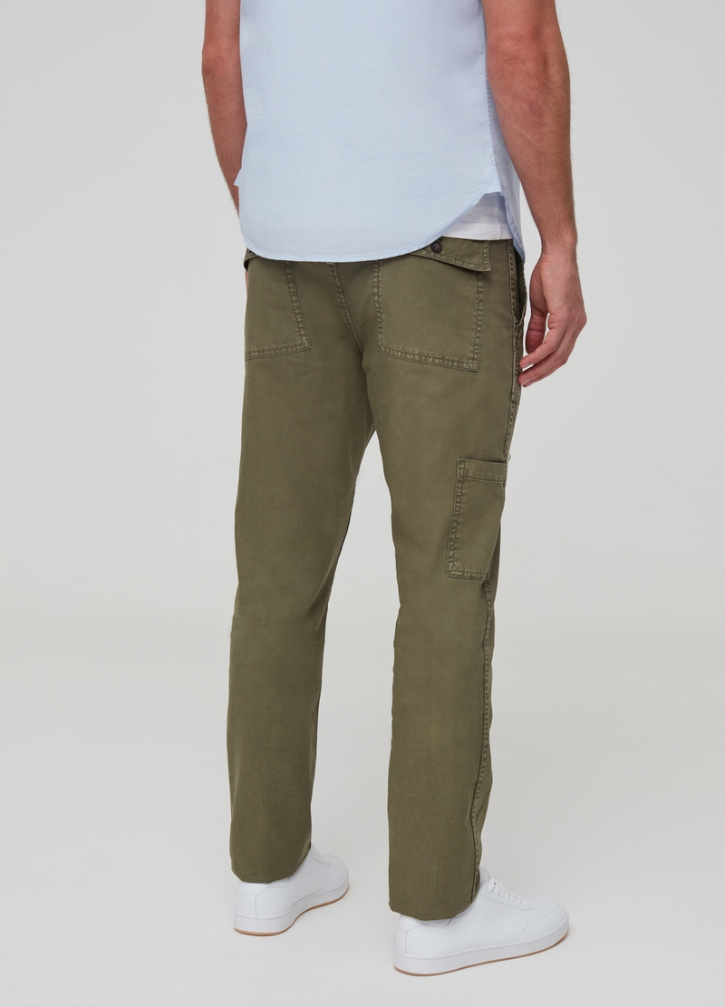 Straight-fit linen and cotton trousers image number null