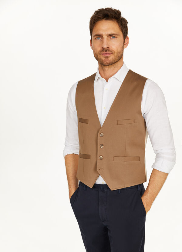 Rumford cotton gilet with half belt