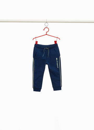 Cotton joggers with trim