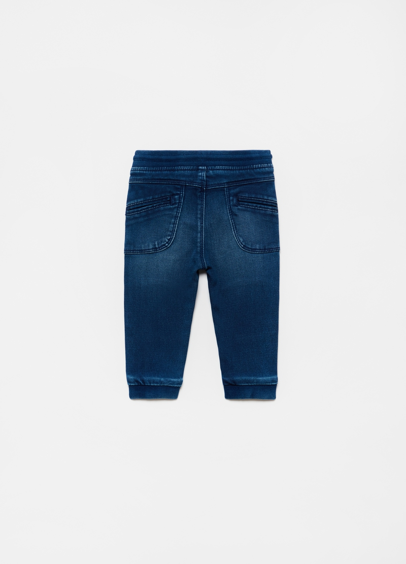 French terry jeans with pockets image number null
