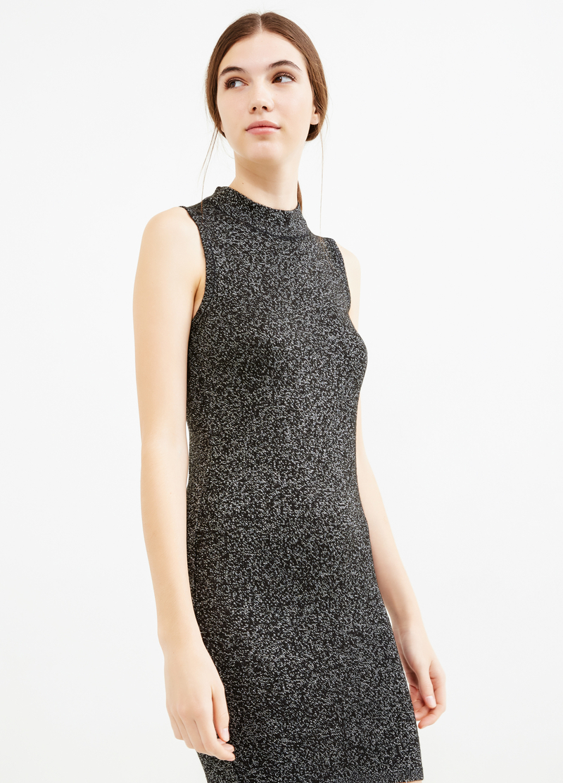 Sleeveless tube dress with lurex image number null