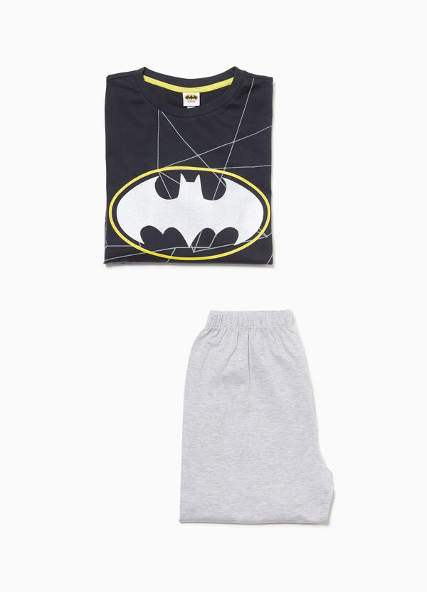 Cotton pyjamas with Batman print