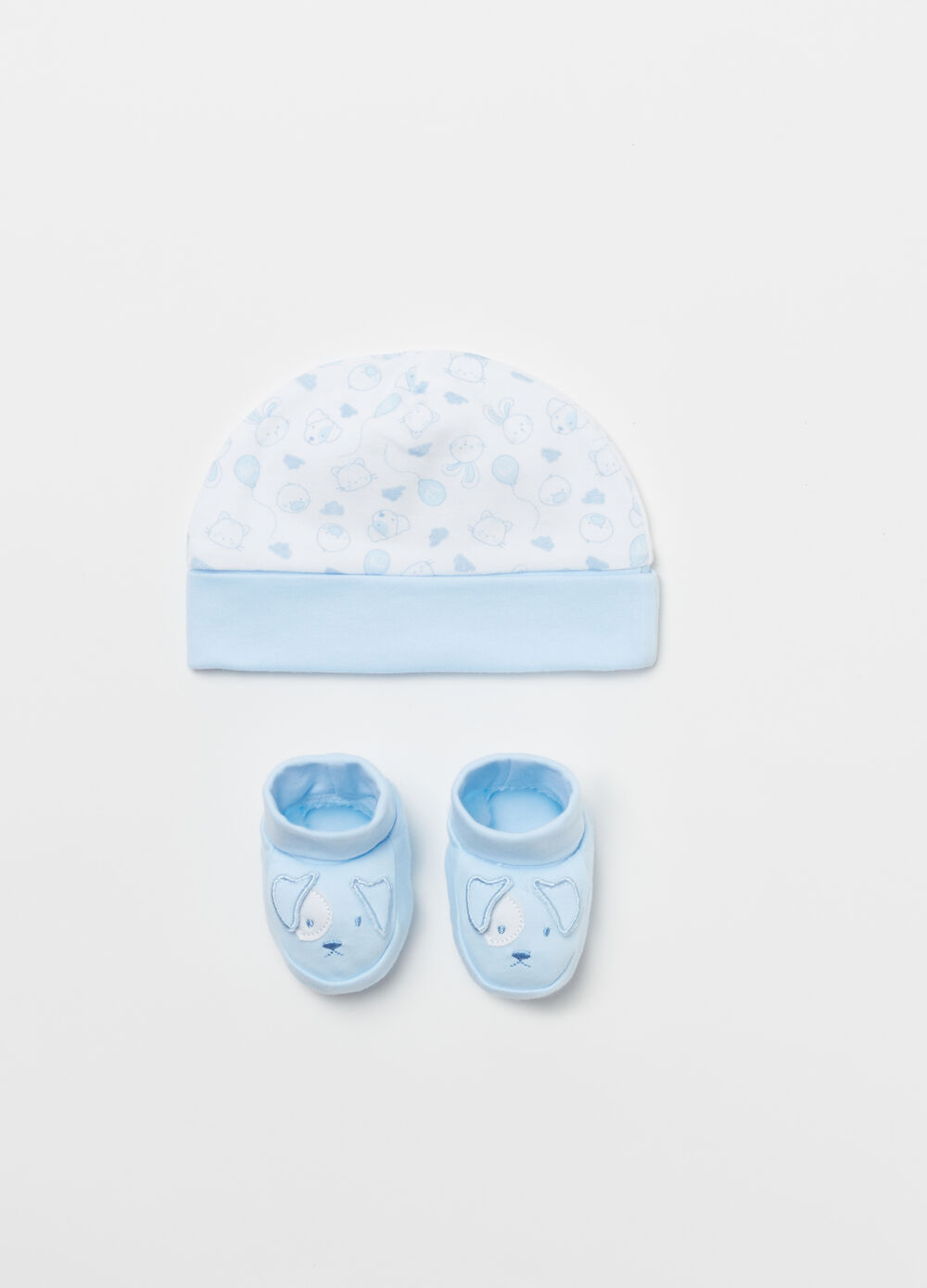 BCI baby shoes and hat with puppy
