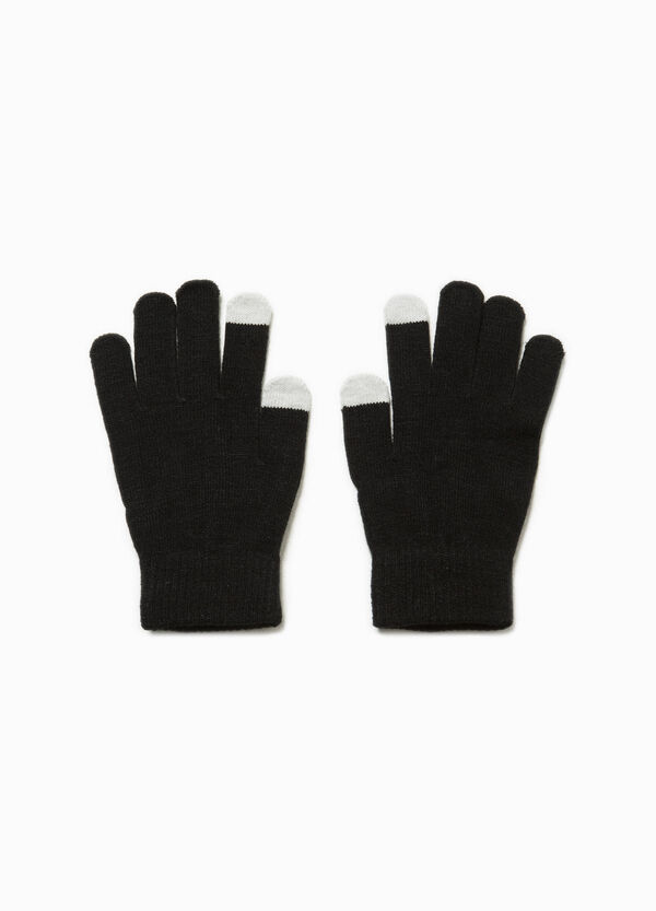 Touch-screen gloves with flocked print | OVS