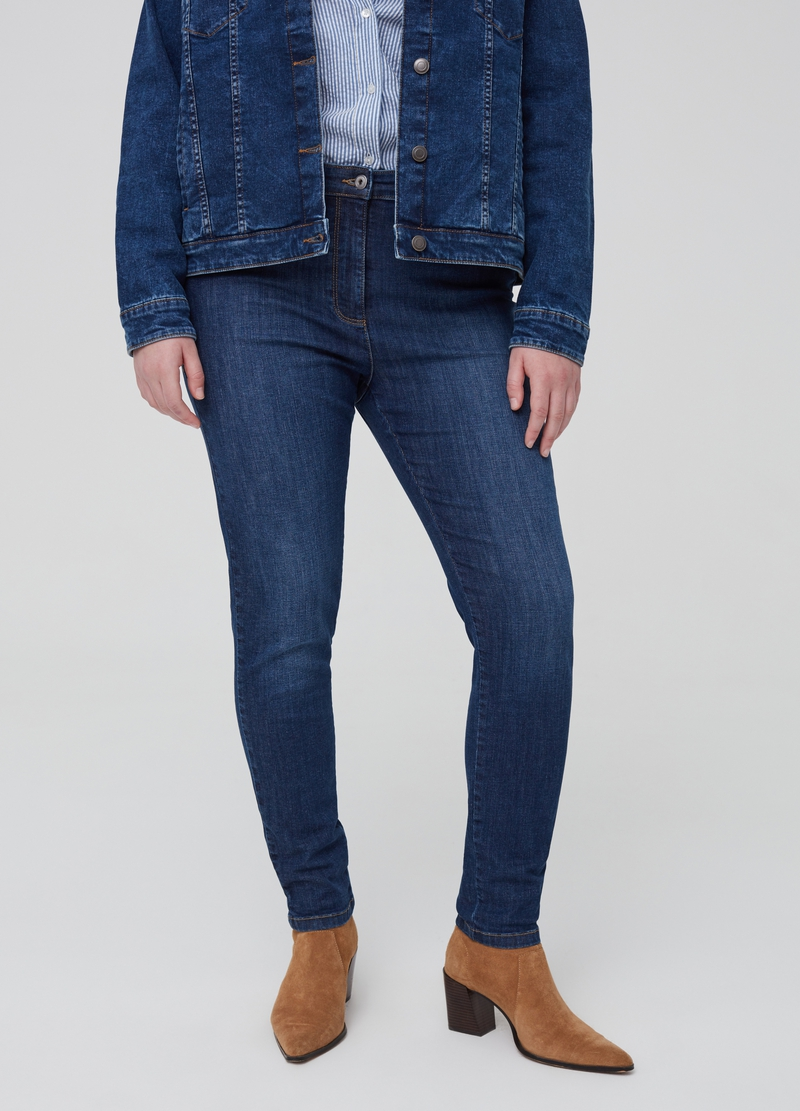 Jeans stretch con zip Curvy image number null