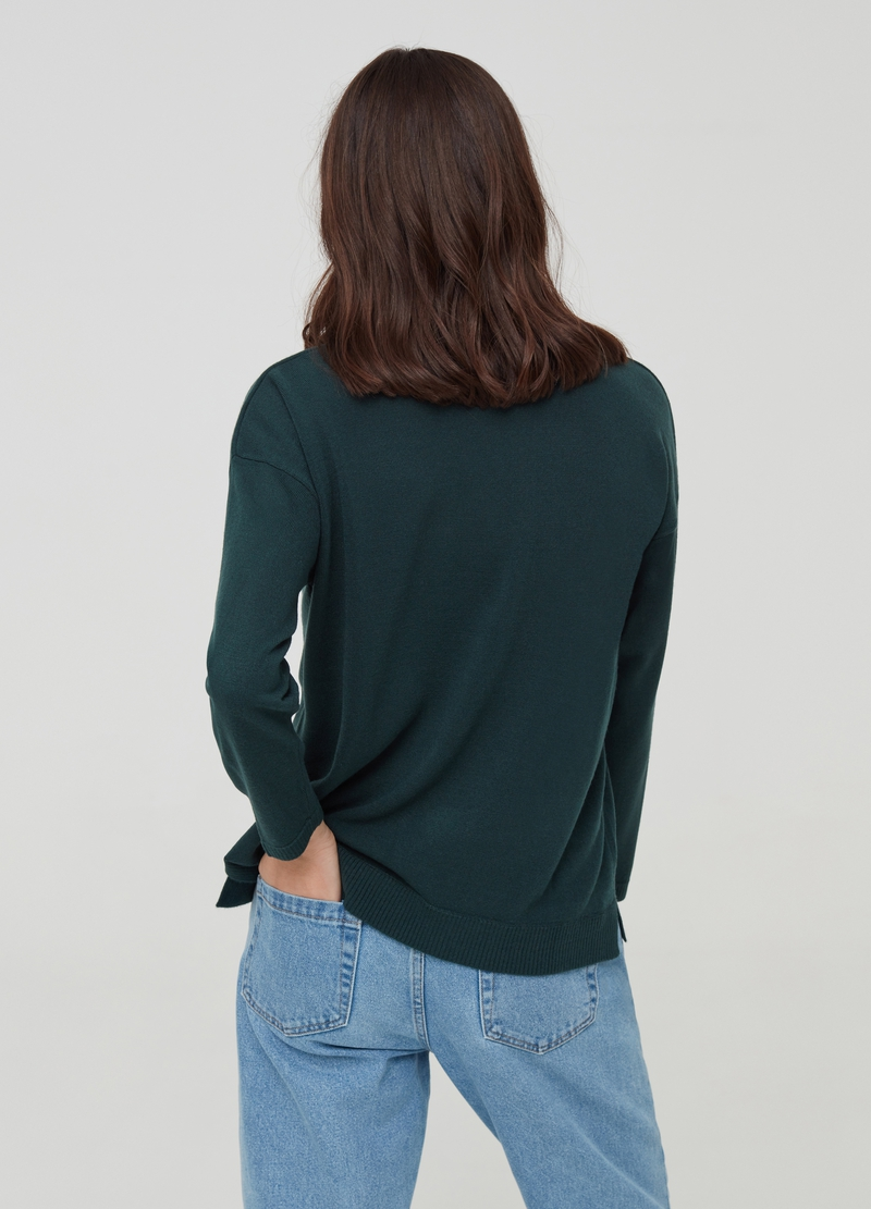 Top with drop shoulder and splits image number null