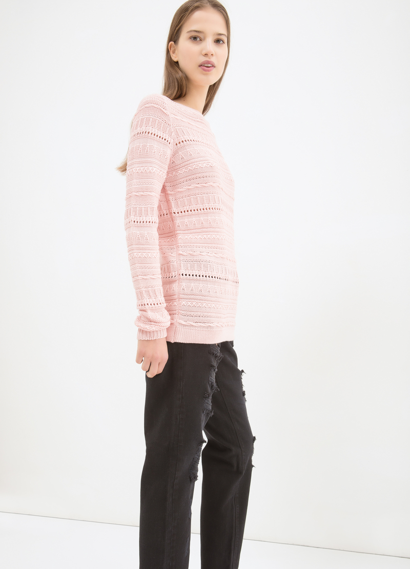 Pullover tricot misto cotone image number null