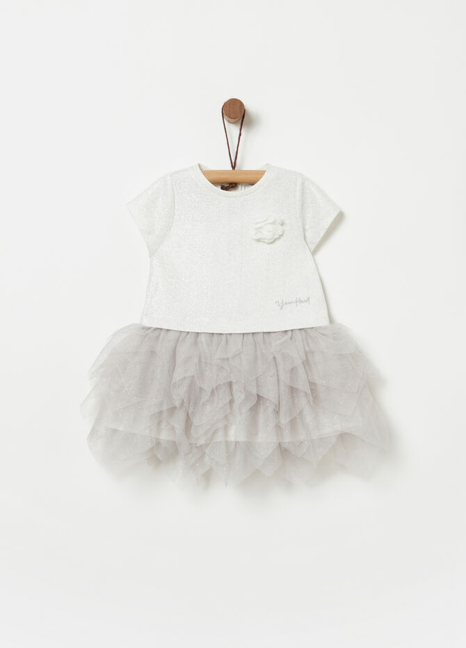 Vestitino in French Terry con tulle