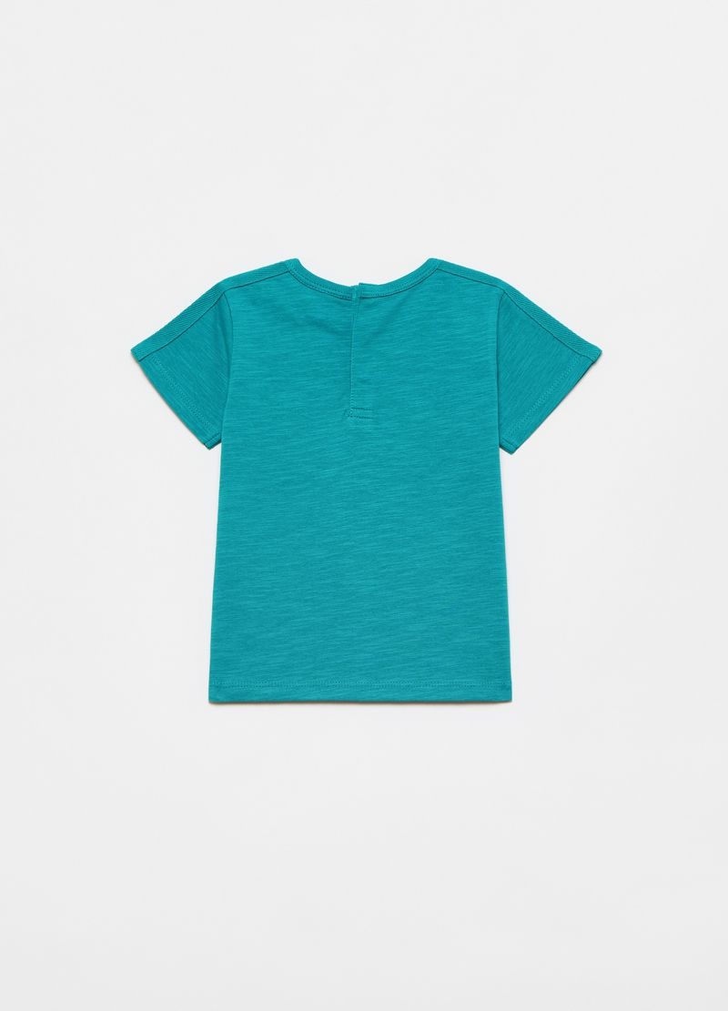 T-shirt with pocket with dinosaur print image number null