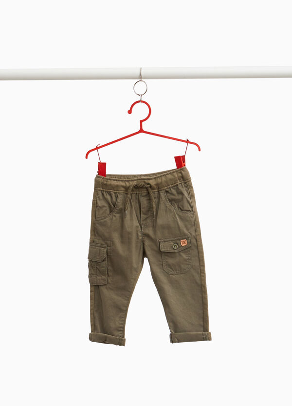 Cotton cargo trousers with pockets