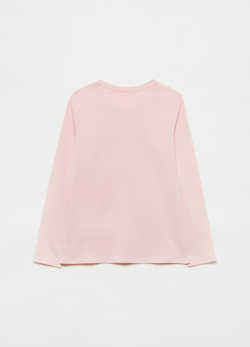 Long-sleeved solid colour T-shirt image number null