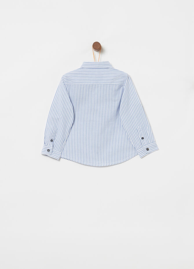 100% cotton shirt with striped pocket