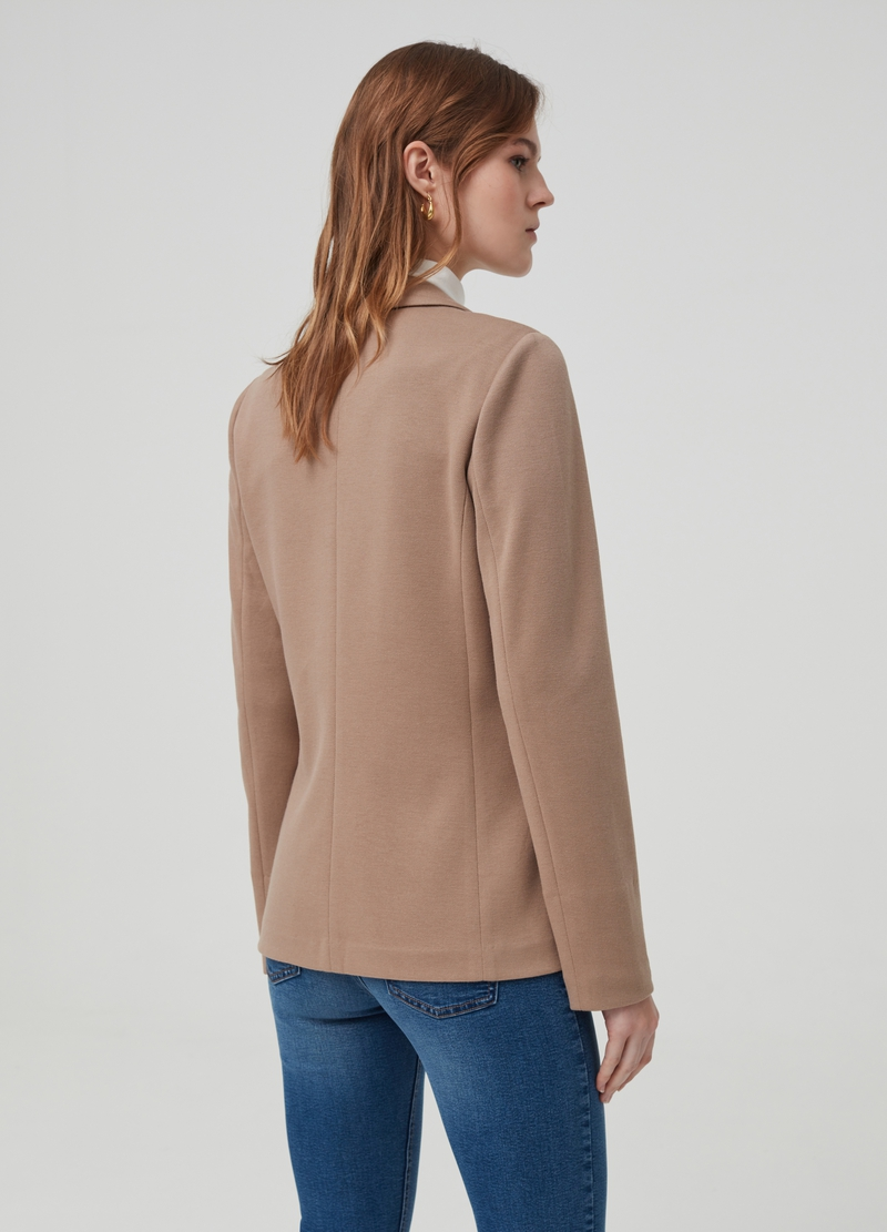 Single-breasted blazer with lapels image number null