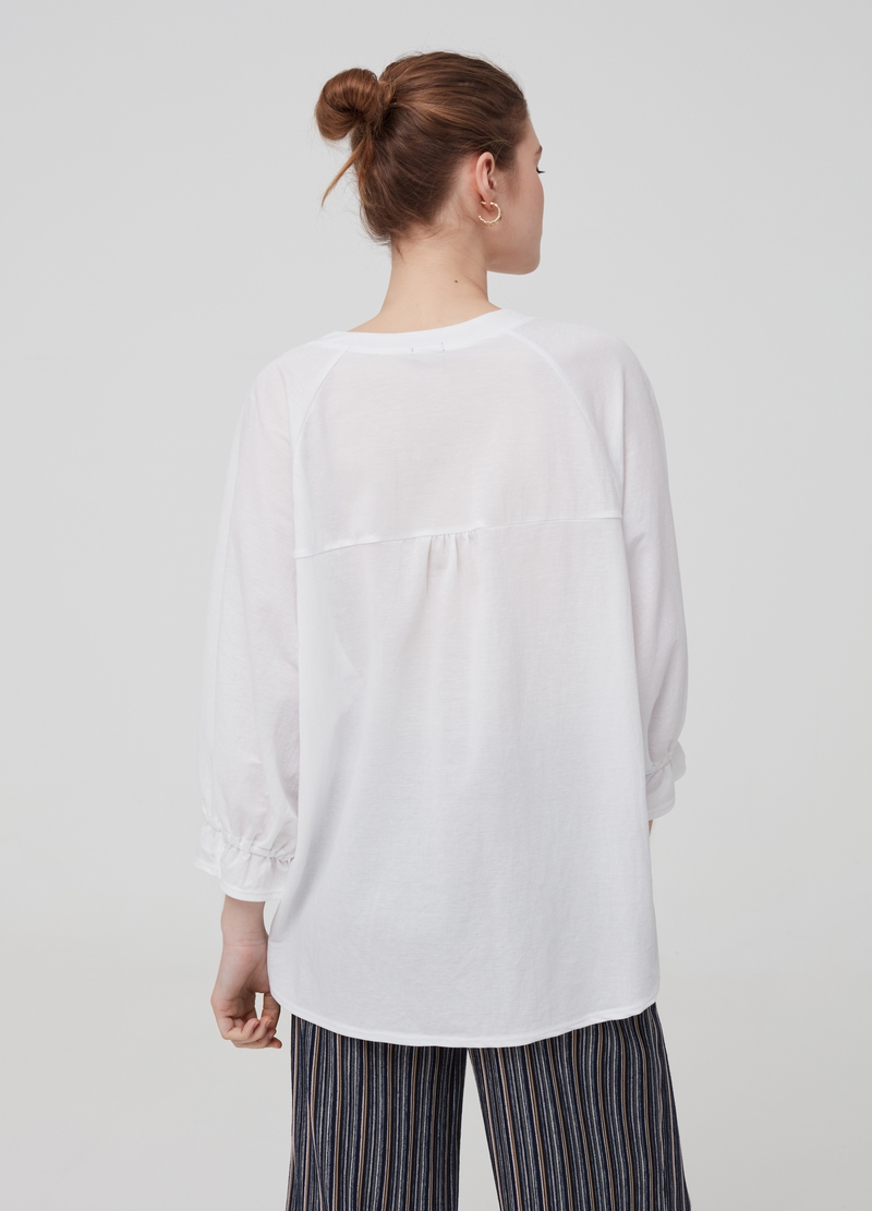 Maxi top with three-quarter sleeves image number null