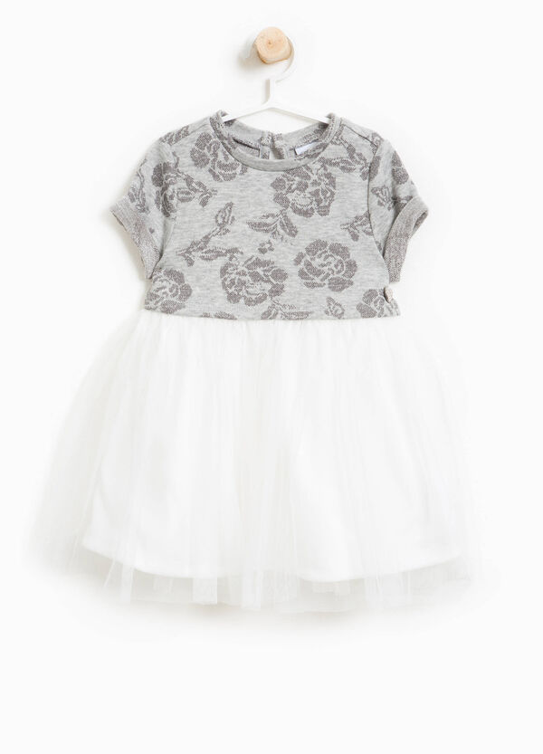 Floral dress with tulle and lurex | OVS