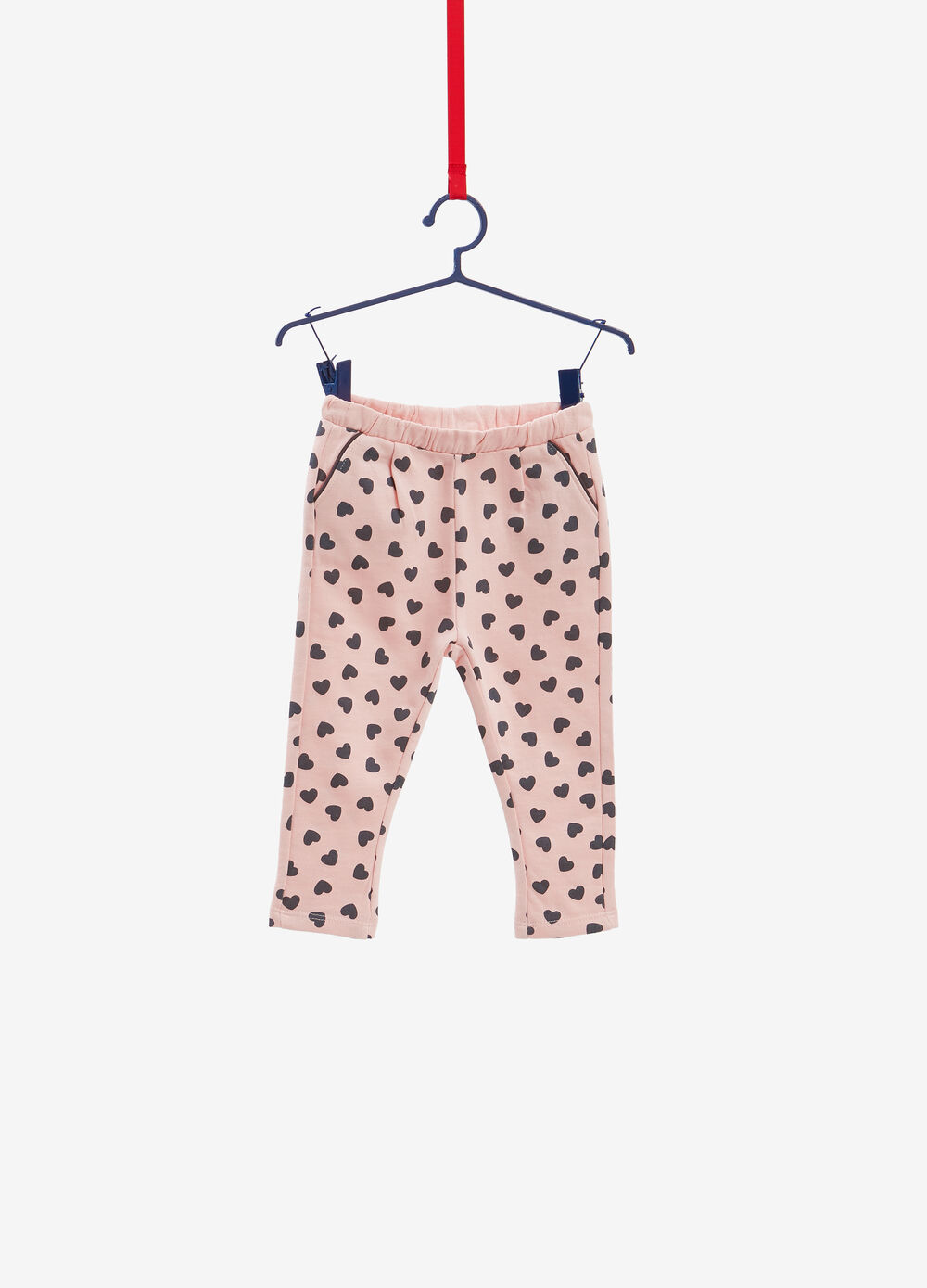 100% cotton trousers with heart pattern