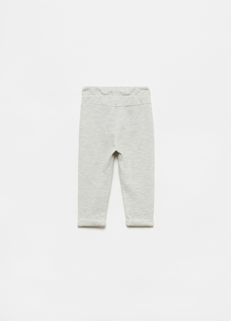 Joggers with drawstring and small buttons image number null