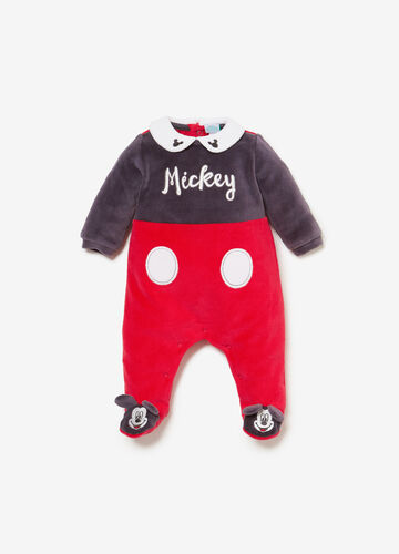 Mickey Mouse embroidered sleepsuit in BCI cotton