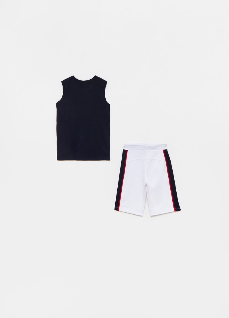 Everlast jogging set with tank top and Bermuda shorts image number null
