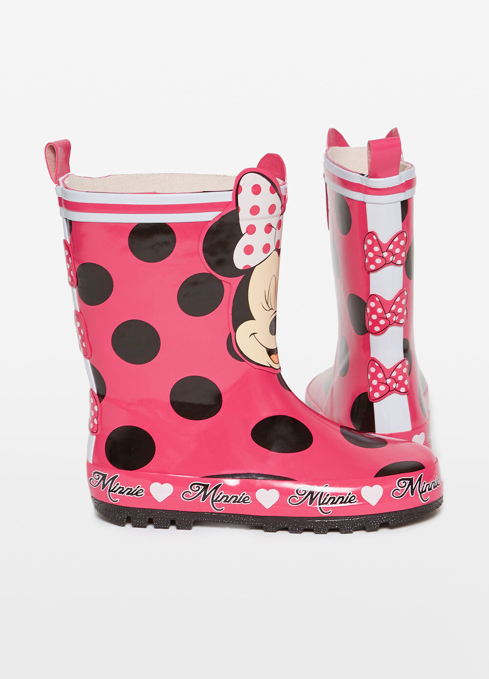 Minnie Mouse rain boots with polka dots
