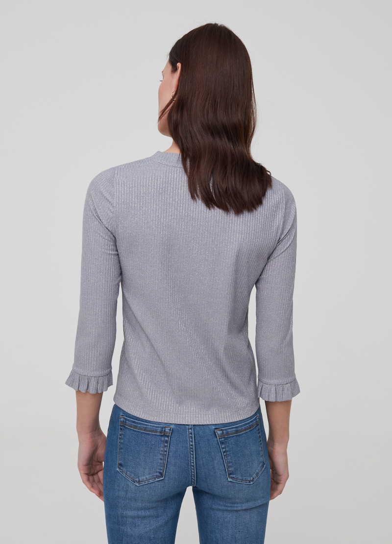Stretch T-shirt with lurex image number null