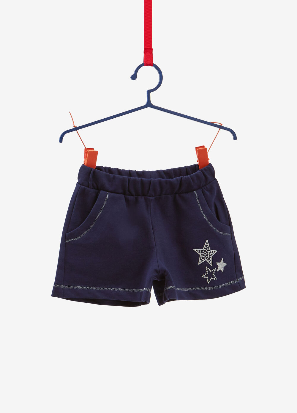 Shorts in 100% cotton with stars print