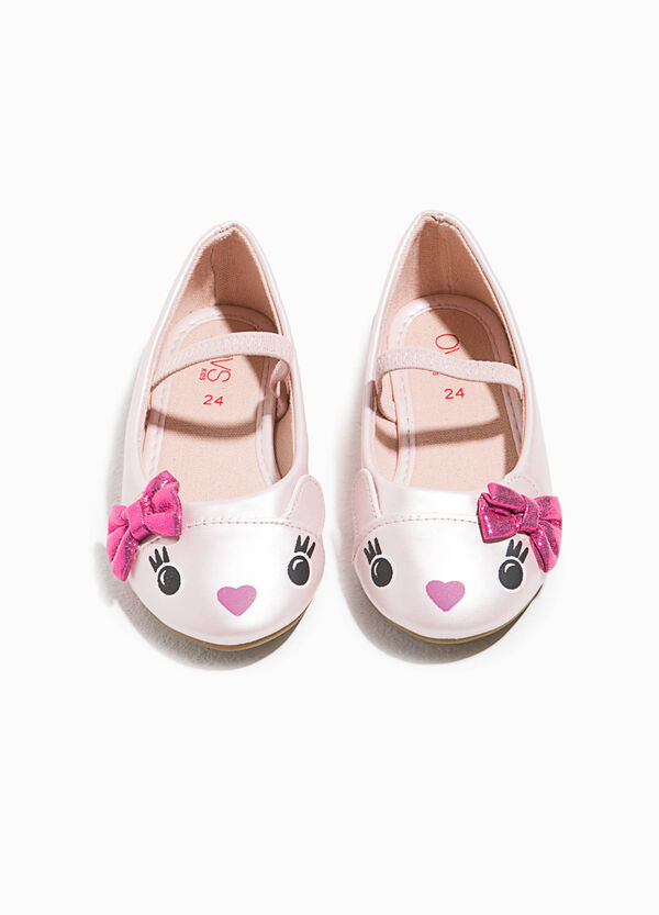 Printed ballerina flats with bow | OVS