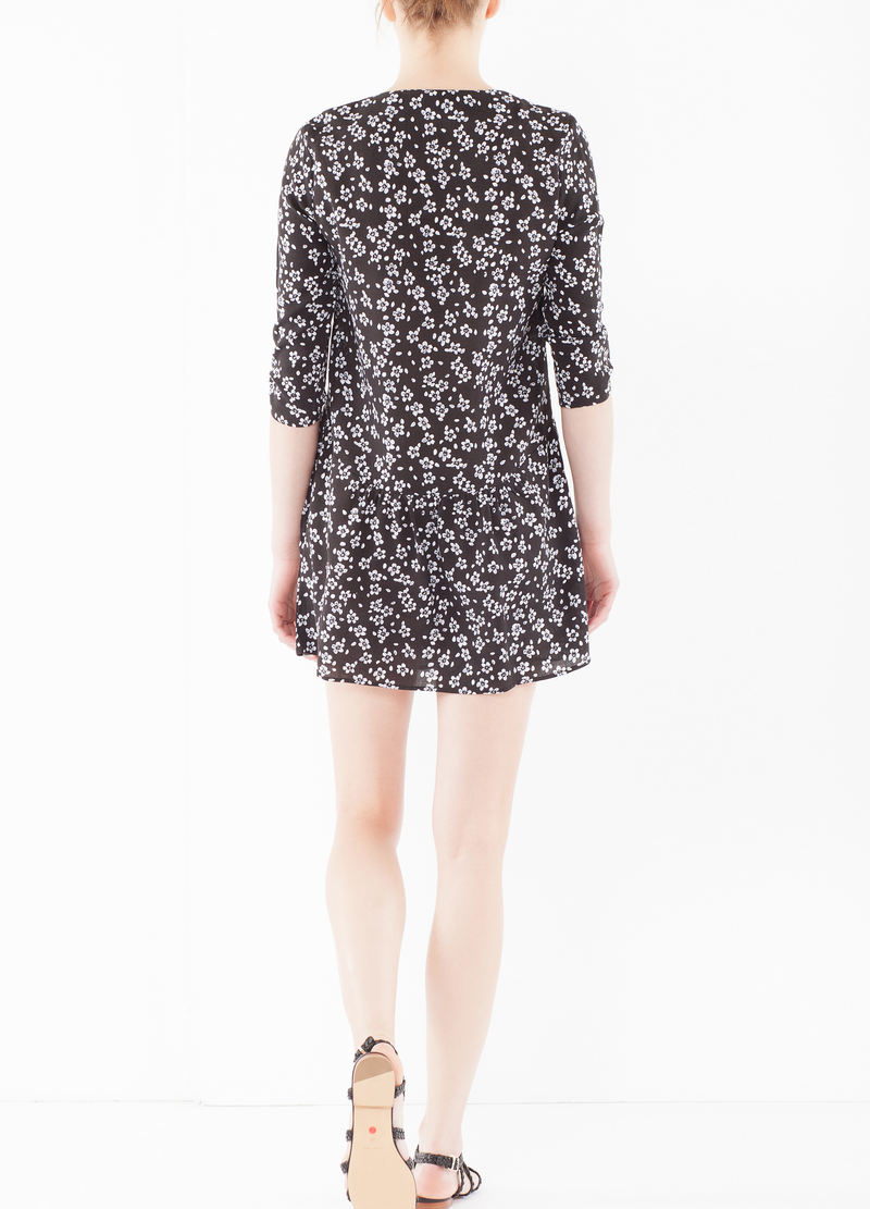Flared dress in viscose image number null