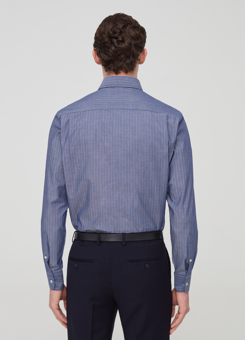 Camicia regular fit button-down a righe image number null