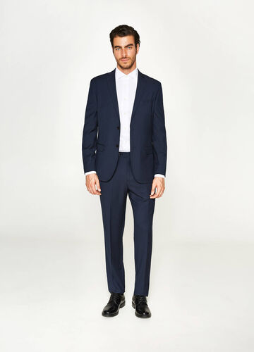 Regular-fit suit with striped pattern