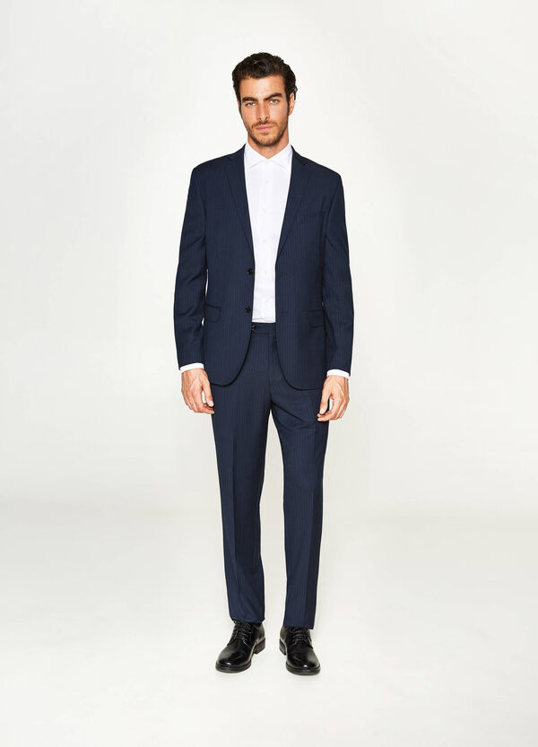 Regular-fit suit with striped pattern | OVS