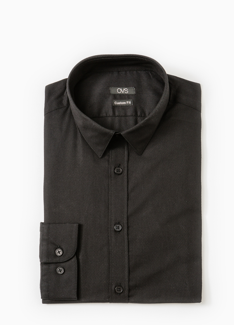 Camicia formale custom fit puro cotone image number null
